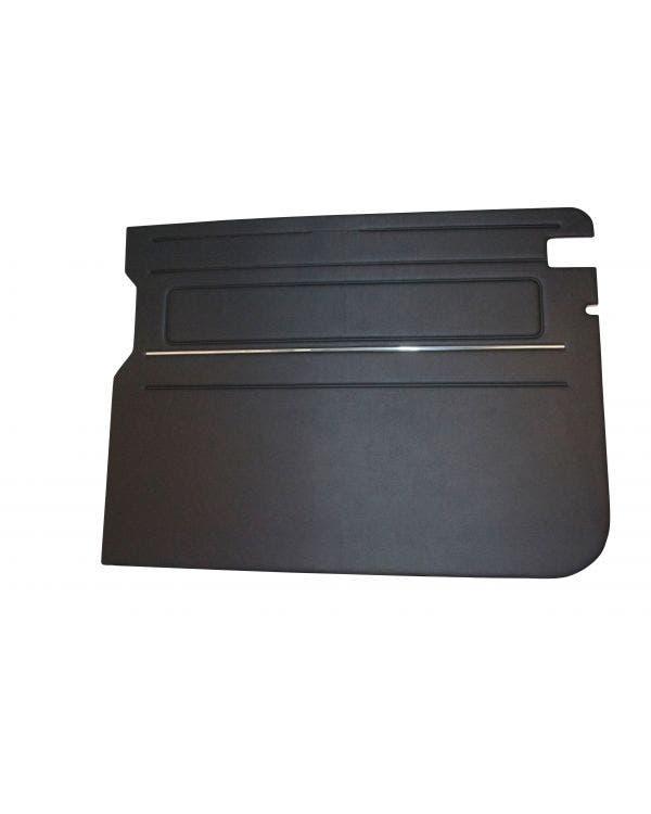 Interior Panel for Left Sliding Door, Black Chrome Trim