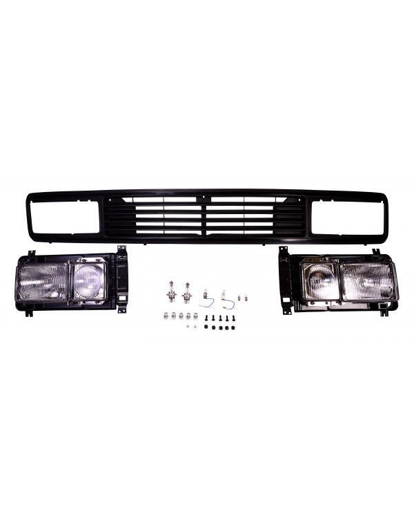Square Headlight & Badgeless Grille Kit Right Hand Drive