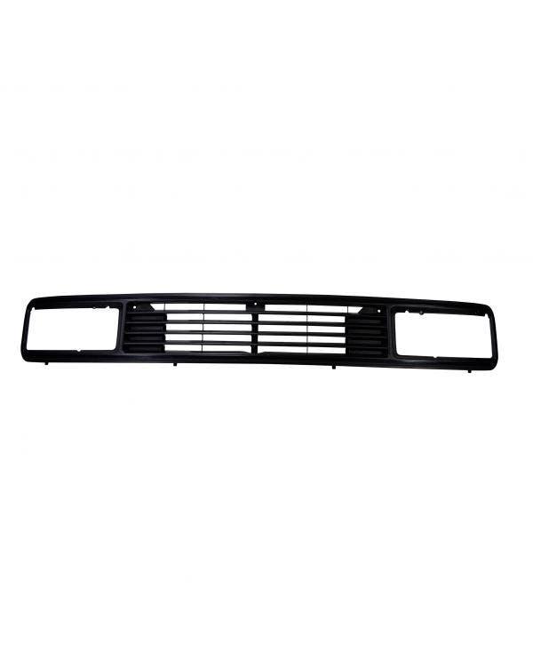 Front Grille, Upper, Rectangular Headlights, Badgeless
