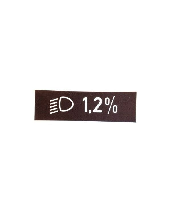 Sticker Light Beam Angle 1.2%