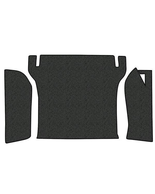 Teppichsatz, Motorhaubenverkleidung, 3-teilig, ohne Ersatzradabdeckung