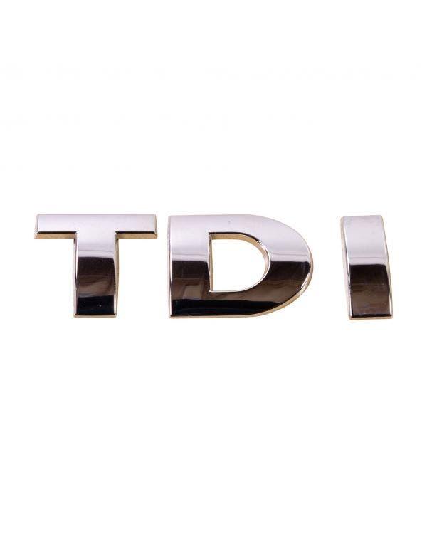 Rear TDI Badge in Chrome