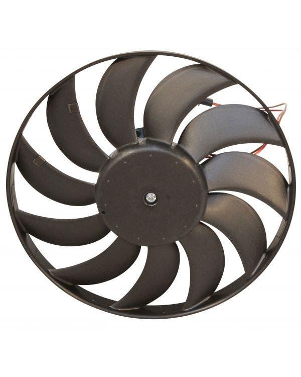 Ventilador del radiador con motor de 350 vatios, 345mm de diámetro