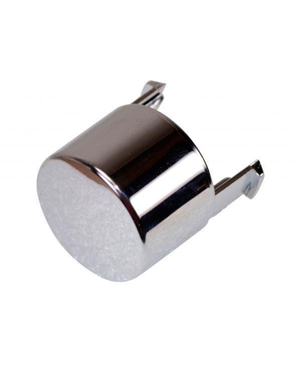 Botón de freno de mano cromado
