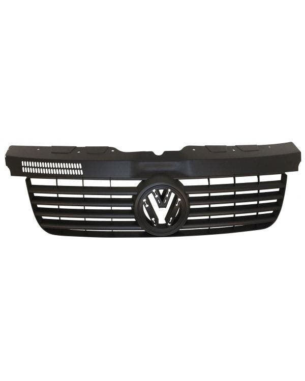 Front Grille with Hole for Badge in Black