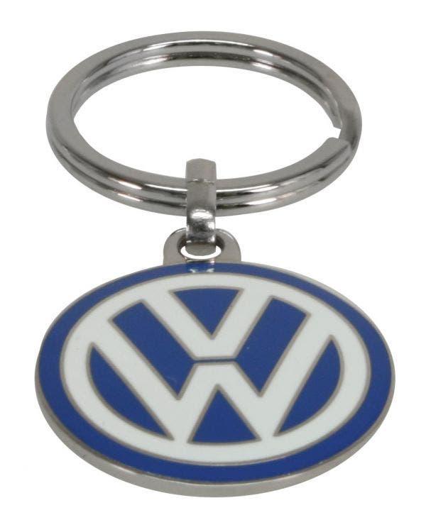 Schlüsselanhänger, mit VW-Logo auf beiden Seiten, klein, Emaille