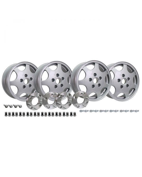 Design 90 Wheel Set with 4x130 to 5x130 Adaptors