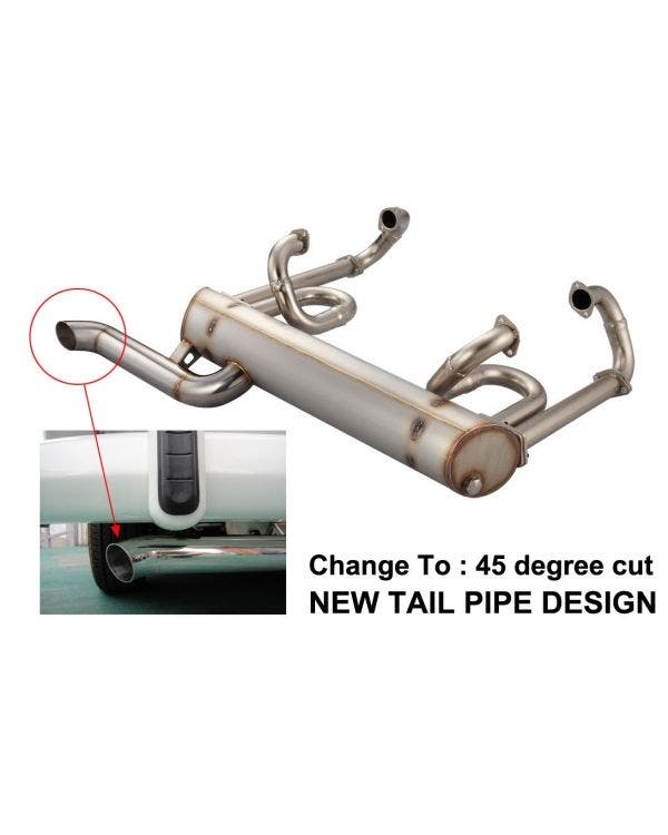 Vintage Speed Super Flow Exhaust, Standard Tail Pipe