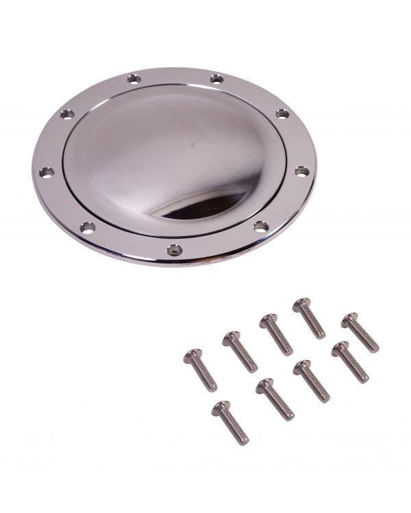 Hupendruckknopf, groß, poliert, für SSP Lenkräder, mit Schrauben