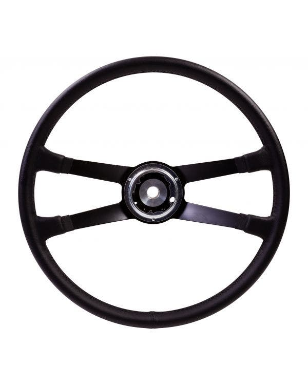 SSP Black Leather Steering Wheel inc Boss for Porsche. 417mm