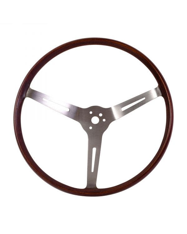 Flat4 GT Wood Rim Steering Wheel 14 Inch