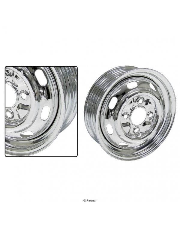 Chrome O.E Style Wheel 4 stud 5.5'' Wide