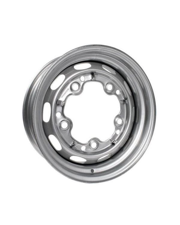 Silver Steel Wheel 4.5Jx15'' with 5x205 Stud Pattern
