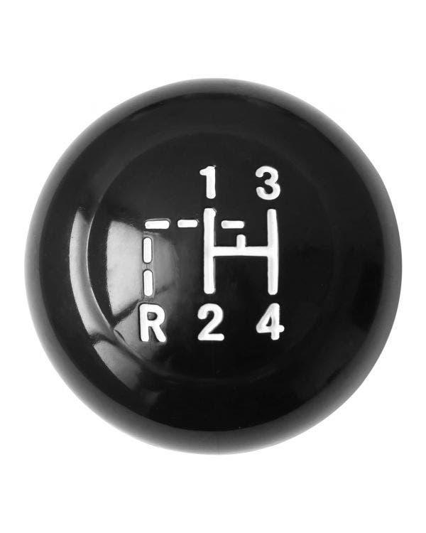 Vintage Speed Gear Knob, Pull Reverse, 4 Speed, Black