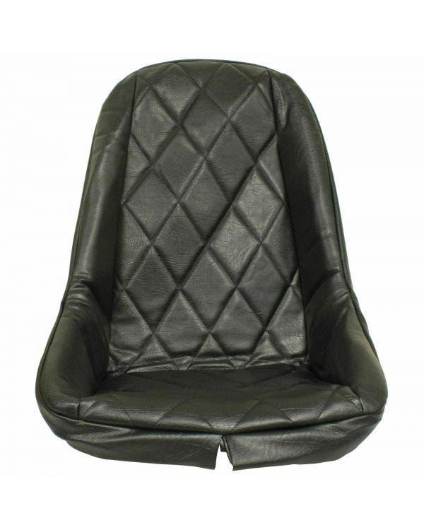 Kunststock Sitzbezug, tiefe Rückenlehne, Karomuster