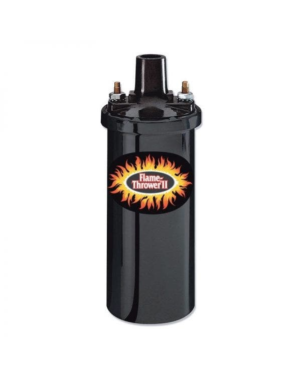 Pertronix Flame-Thrower II Ignition Coil 12 Volt 0.6 Ohm Socket Connection in Black