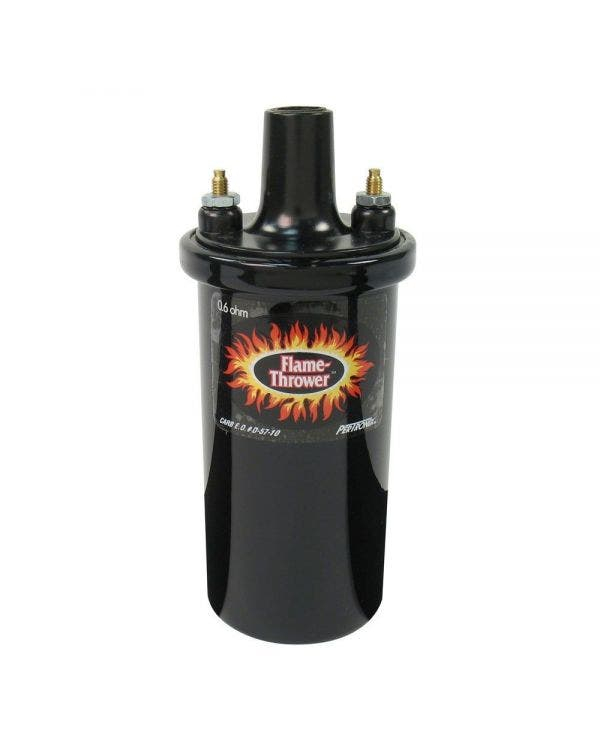 Pertronix Flame-Thrower II Ignition Coil 12 Volt 0.6 Ohm Socket Connection in Black Epoxy Filled