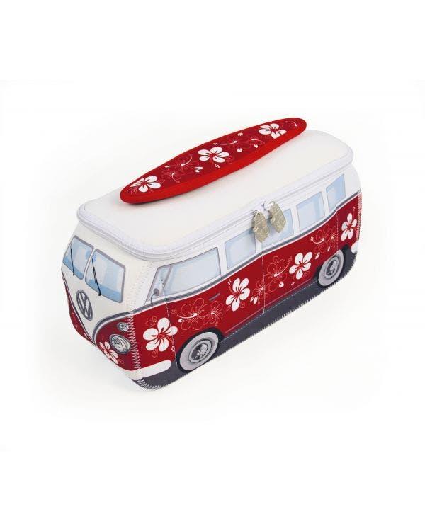 VW T1 Bus Neopren Universaltasche, Rot/Weiß
