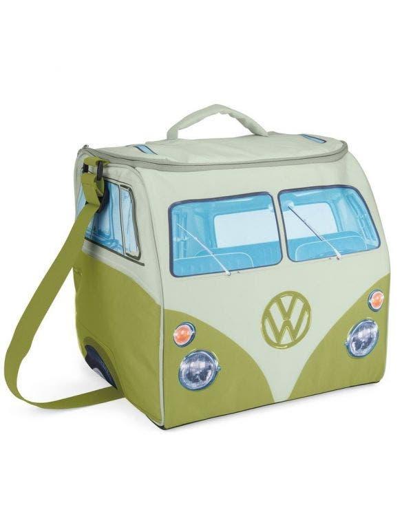 Kühltasche, grün/weiß mit T1 Bus