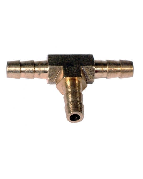 Fuel Hose T-Piece 1/4''-6mm Brass