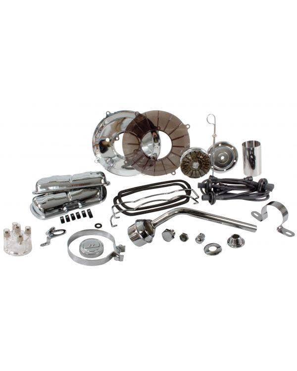 Engine Dress Up Kit Clear with Black HT Leads