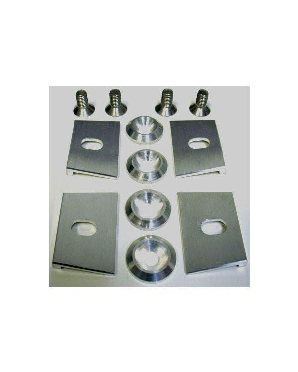 Kraftstofftank-Klemmensatz, Billet, Aluminium, Silber