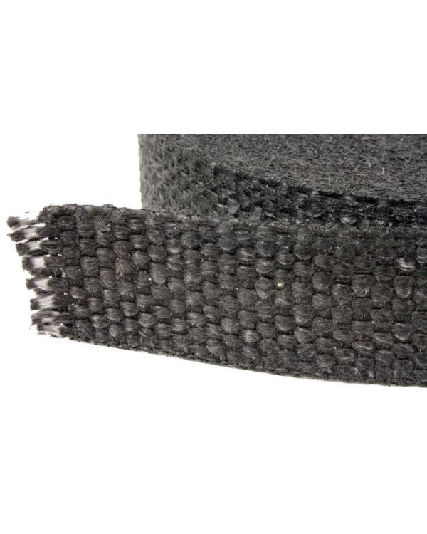 Black Thermotec Exhaust Wrap 2.1mm thick, 50mm wide, 10 meter long