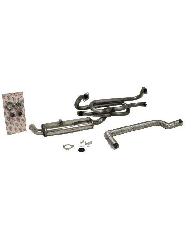 CSP Single Quiet Pack Exhaust 38mm