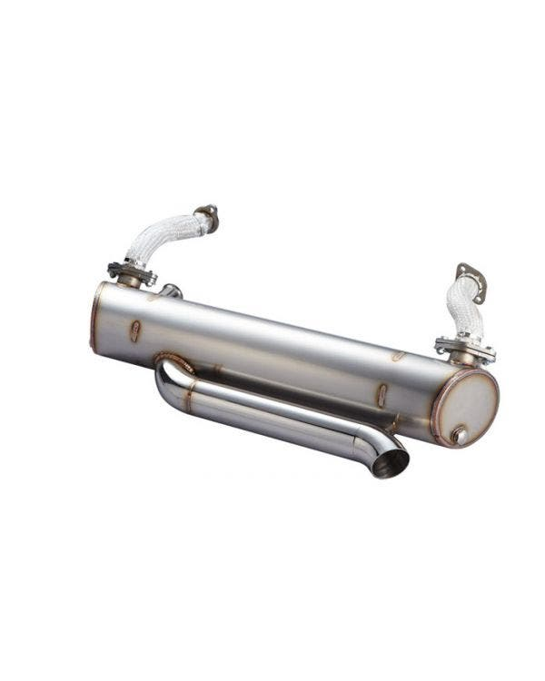 Vintage Speed Stainless Steel Super Flow Exhaust System with Tuck Tail Pipe