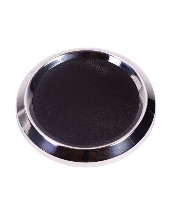 Hupendruckknopf, groß, chrom/schwarz, für SSP Lenkräder