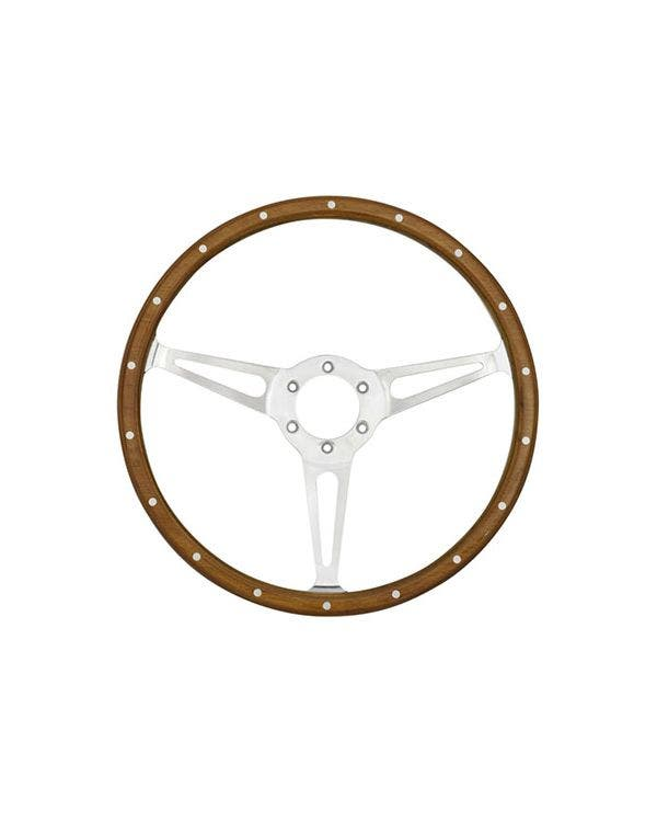 SSP 3-Slot Mahogany Steering Wheel 380mm 6 Bolt
