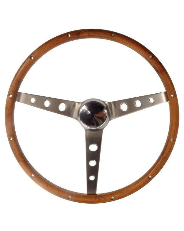 Grant Wood Rim Steering Wheel 15'' with Holes '' Spokes  4 1/8'' Dish