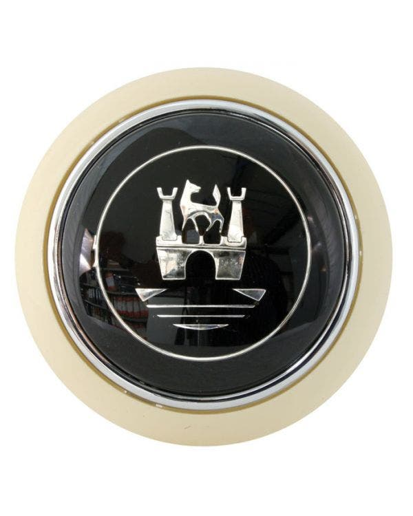 Flat4 Horn Push Ivory with Silver Wolfsburg Crest