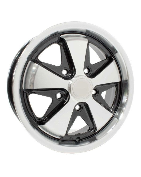 SSP Fooks Alloy Wheel Black and Polished 5.5Jx15'' with 5x130 Stud Pattern ET45