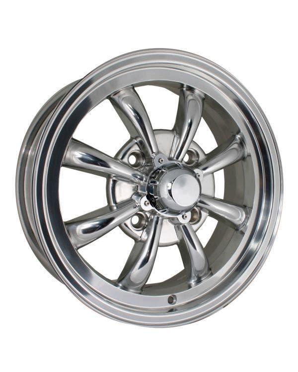 SSP GT 8 Spoke  Alloy Wheel Polished 5.5Jx15'' with 4x130 Stud Pattern ET30