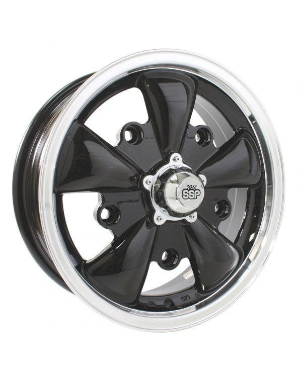 SSP GT 5 Spoke  Alloy Wheel Black 5.5Jx15'' with 5x205 Stud Pattern ET20