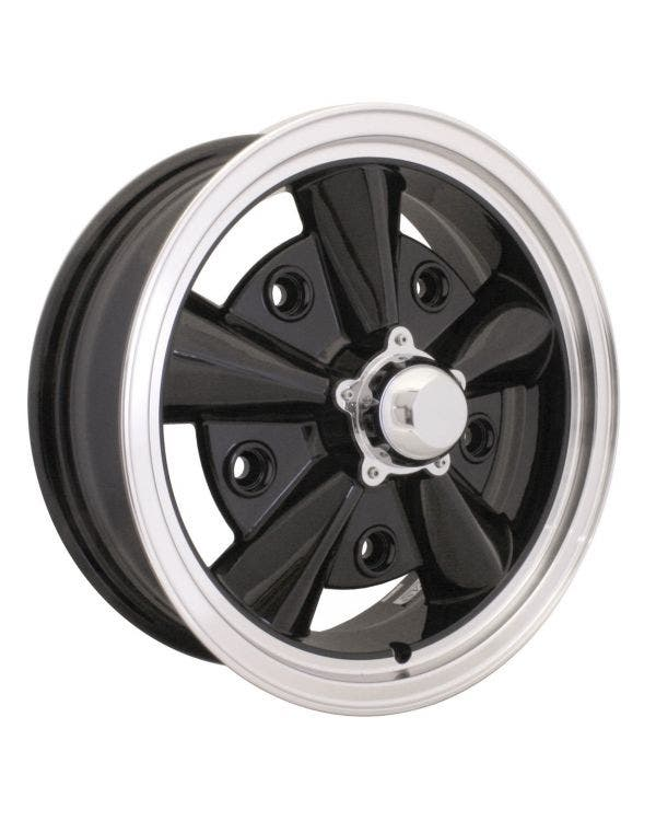 Wheel, SSP Crest, Black/Polish Lip, 5/205 5.5''x15''