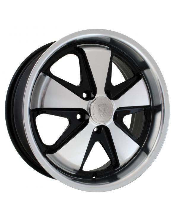 SSP Fooks Alloy Wheel Black and Polished Spokes 7Jx17'' with 5x112 Stud Pattern ET40