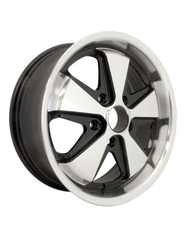 SSP Fooks Alloy Wheel Black and Polished Spokes 7Jx17'' with 5x130 Stud Pattern ET40