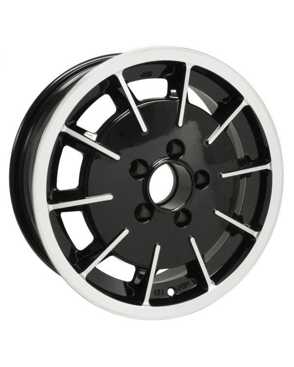 SSP Gas Burner Alloy Wheel Black and Polished 5.5Jx15'' with 5x112 Stud Pattern ET20