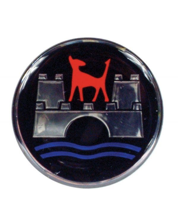 Wheel Centre Cap Emblem with Wolfsburg Logo 45mm Diameter