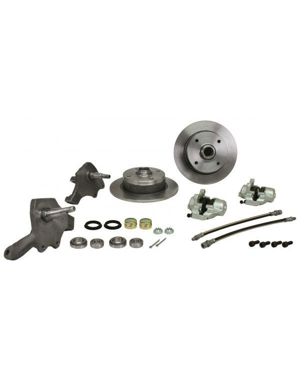 Front Disc Brake Conversion Kit with 4x130 Stud Pattern with Dropped Spindles