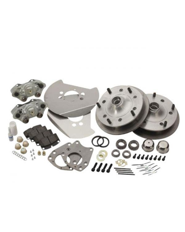 CSP Front Disc Brake Conversion Kit with 5x205 Stud Pattern with Crossed Drilled Discs