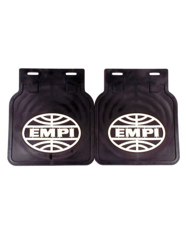 Mudflaps Black With White EMPI Logo Pair