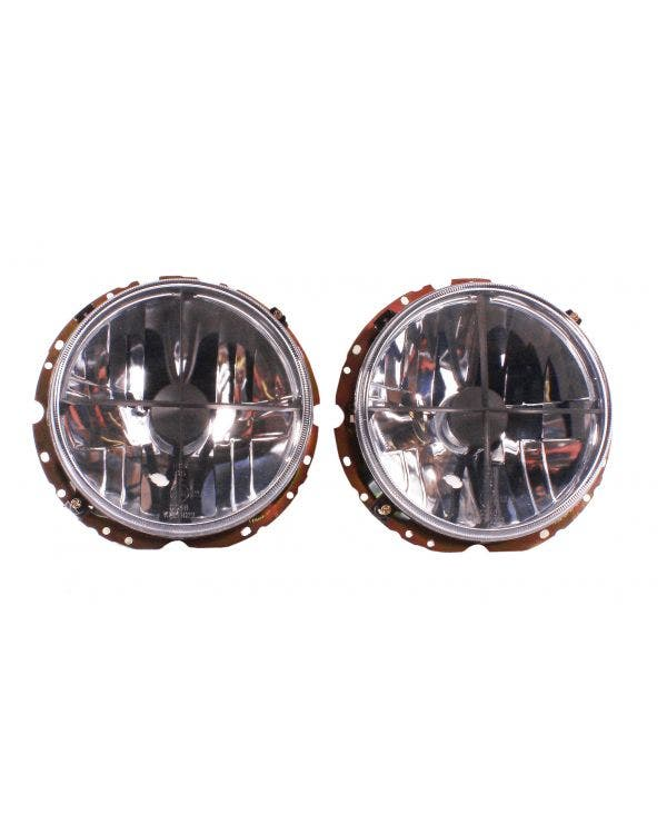 Headlights Crystal Clear Crosshair for Right Hand Drive Pair