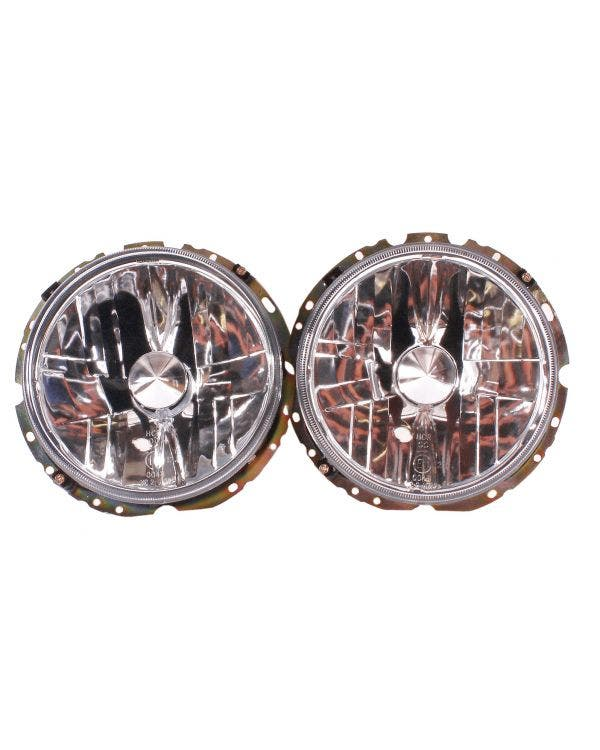 Headlights Crystal Clear for Left Hand Drive Pair