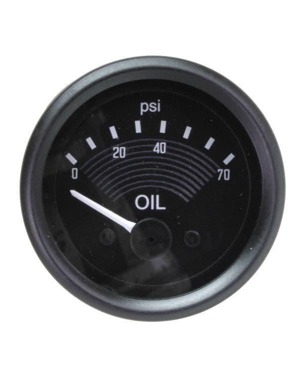Indicador de presión de aceite original Smiths de 70PSI, de 52mm, de 12V, en negro