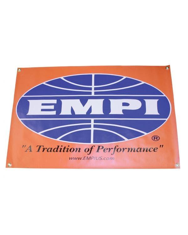 EMPI-Vinyl-Banner, Orange, mit Ösen, 36x24 Zoll