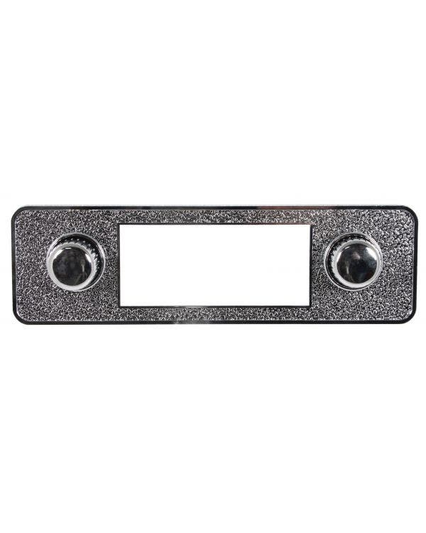 Chromed Stereo Faceplate including Knobs Escutcheons