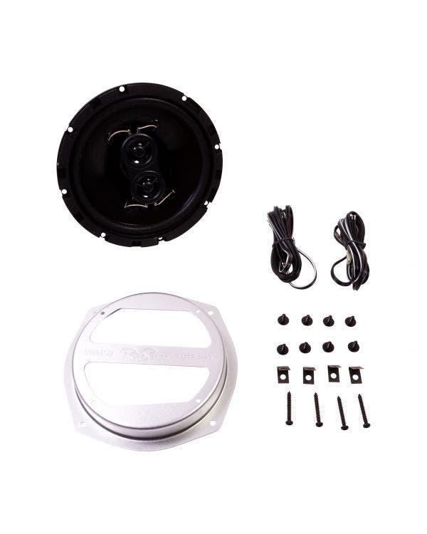 6,5-Zoll-Lautsprecher und Halter, am Armaturenbrett montiert